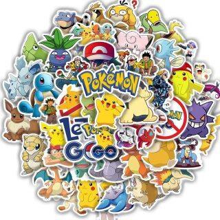 10 50Pcs Pokemon Pikachu Dán, Ván Trượt Chống Thấm Nước Hình Hoạt Hình Kawaii Ghi Ta Xe Đạp Máy Tính Xách Tay Trẻ Em Stiker Đồ Chơi thumbnail