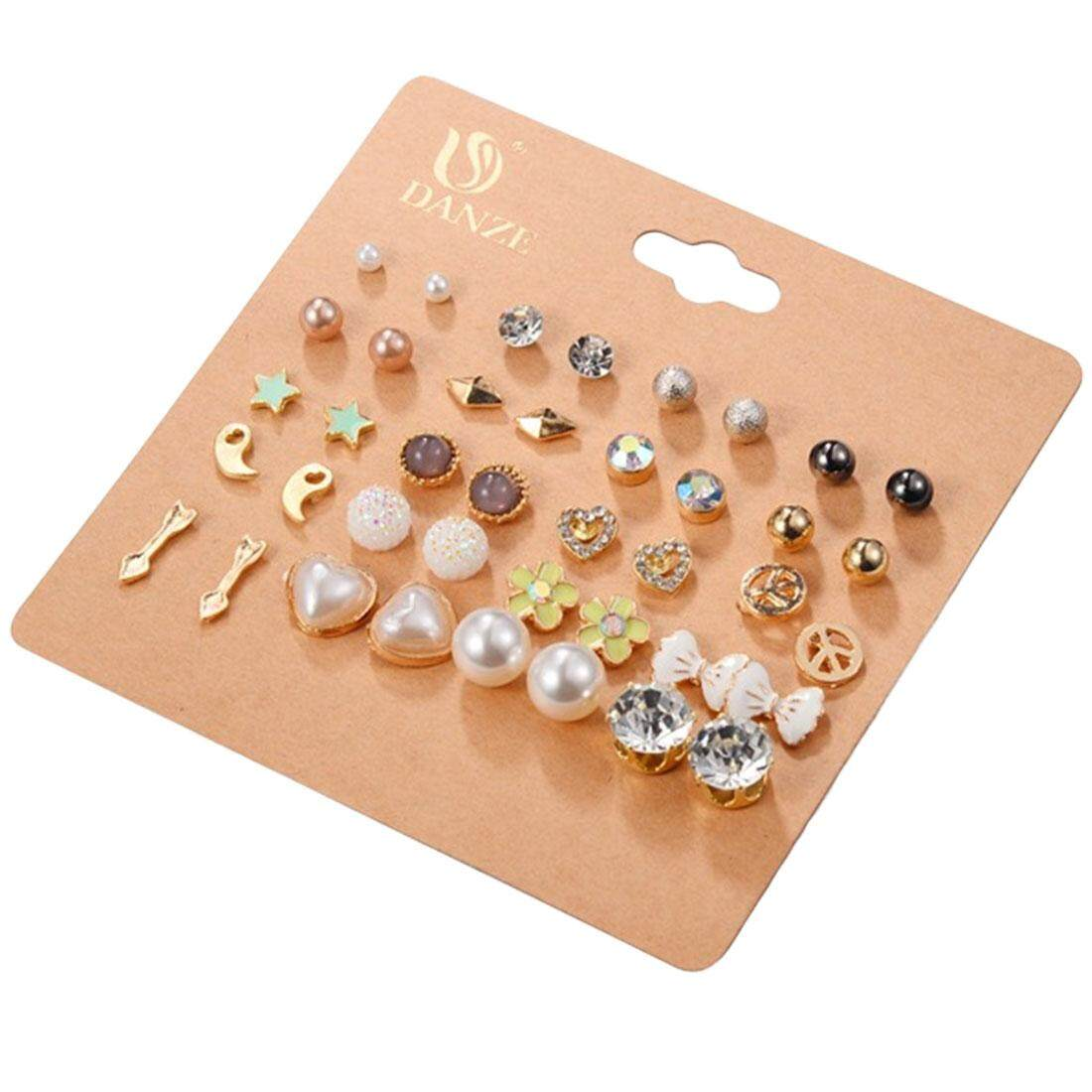 Set Anting-anting Campuran Wanita Perhiasan Wanita Hadiah Aksesoris