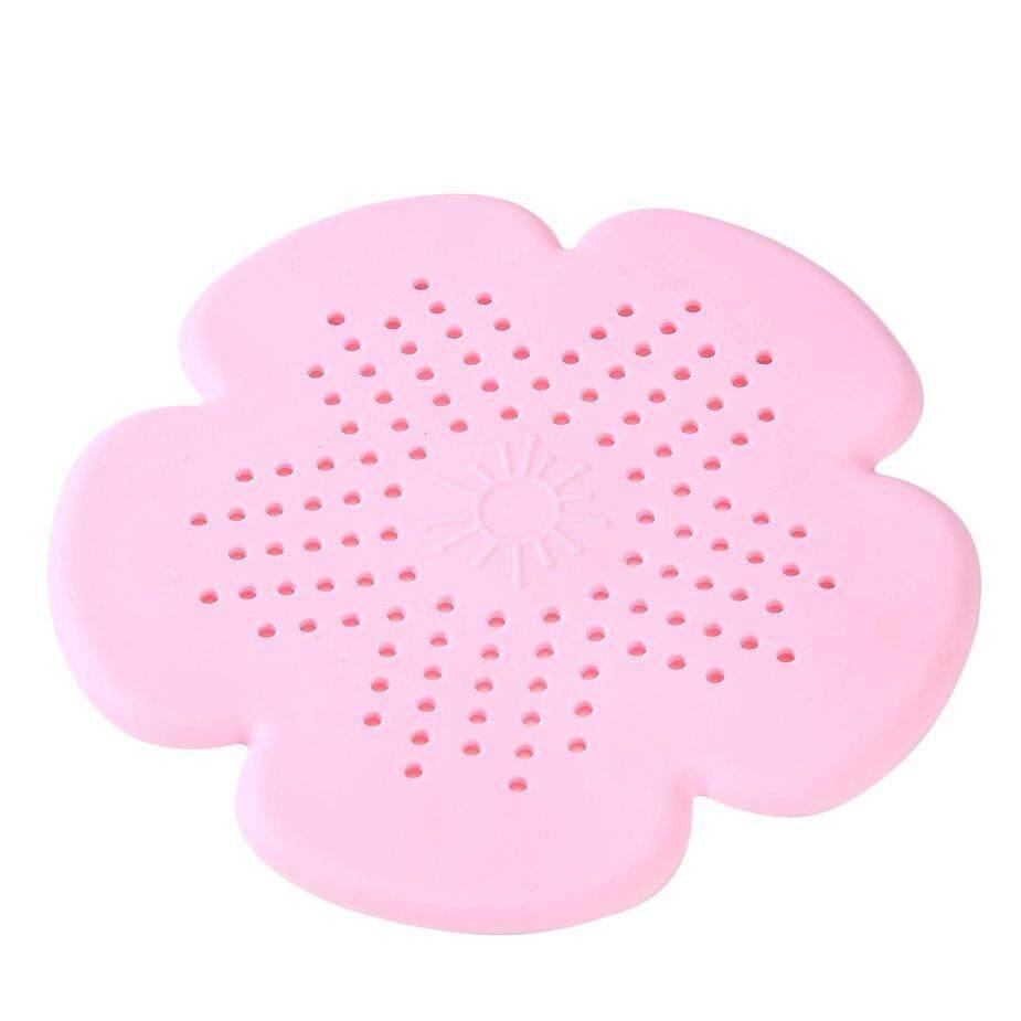 Hot Sale Unique Design Silicone Sakura Flower Shape Bathroom Shower Kitchen Drain Sink Strainer Filter Hair Filter Strainer