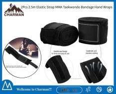 2 Cái 2.5M Dây Đeo Đàn Hồi Đấm Bốc Sanda Muay Thái MMA Taekwondo Băng Tay Quấn