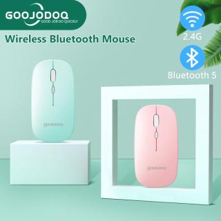 GOOJODOQ Chuột Không Dây Bluetooth Hiện Đại Mỏng Và Im Lặng Sạc iPad Tablet Điện Thoại Phổ Di Động thumbnail