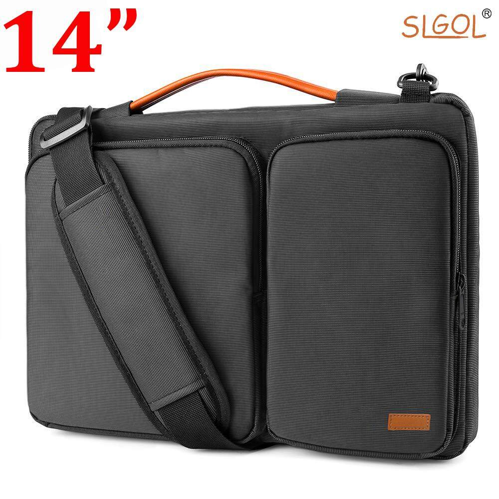 Original 13-14 Inch / 15-15.6 Inch Laptop Shoulder Bag with Corner Armor Patent & Accessory Pocket, 360° Protective Sleeve Compatible with 13.3-14 Inch / 15 -15.6 Inch Dell  Acer Lenovo Chrome book Notebook by SLGOL-direct