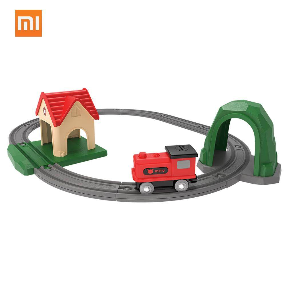 Xiaomi Mitu Train Bricks Building Blocks with Trails Sing Song Music Toys for Kids Birthday Gift DIY Educational Creative Toys For Over 3 Years Old Children Eco-friendly Safe ABS