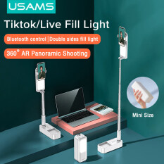 USAMS Fill Led Tiktok Video Light Ring Selfie Light With Phone Holder Wireless BT Remote Control Perfectly for VLogging, Live Streaming, Tiktok Youtube and Photoshoot/Wedding Make Up Video