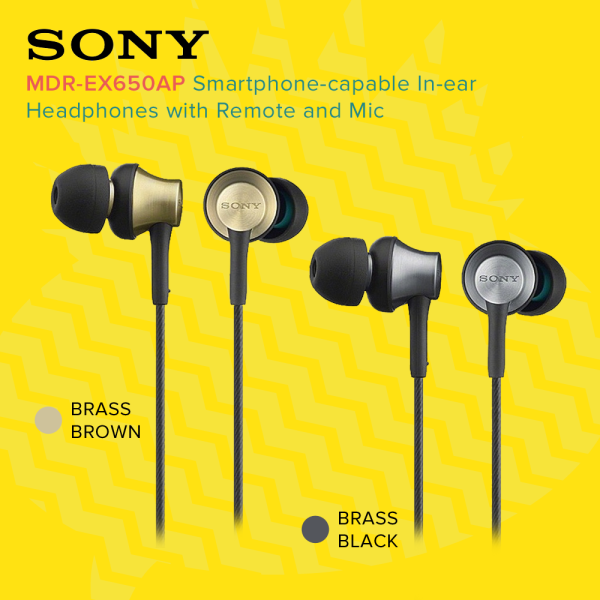 [Free Shipping] SONY MDR-EX650AP In-Ear Headphones 3.5mm Wired Gaming Earbuds Closed Dynamic Music Earphone Headset Hands-free with Mic In-line Control For ios iPhone and Android Huawei/Xiaomi/oppo/vivo/Samsung Singapore
