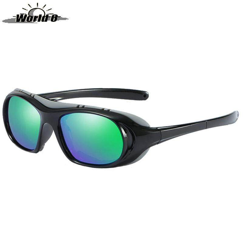 World 6 Outdoor Cycling Sunglasses Polarized Dustproof Anti-UV Glasses for Outdoor Sports