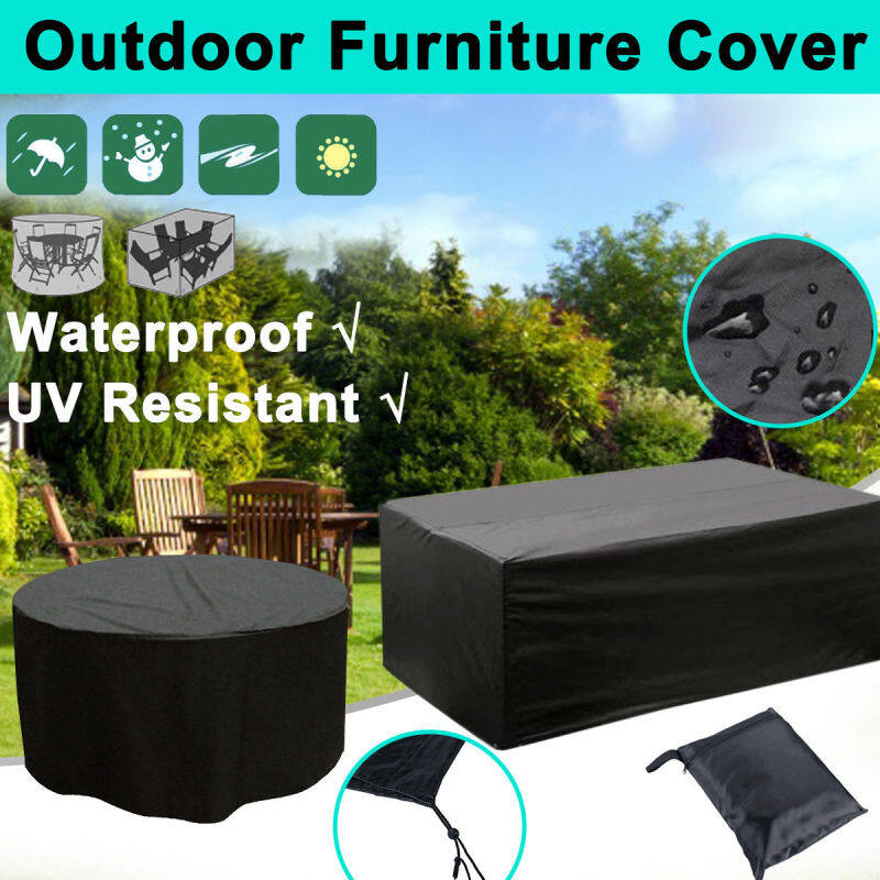 4 Size Waterproof Outdoor Garden 210D Furniture Rain Snow Cover for Table Chair