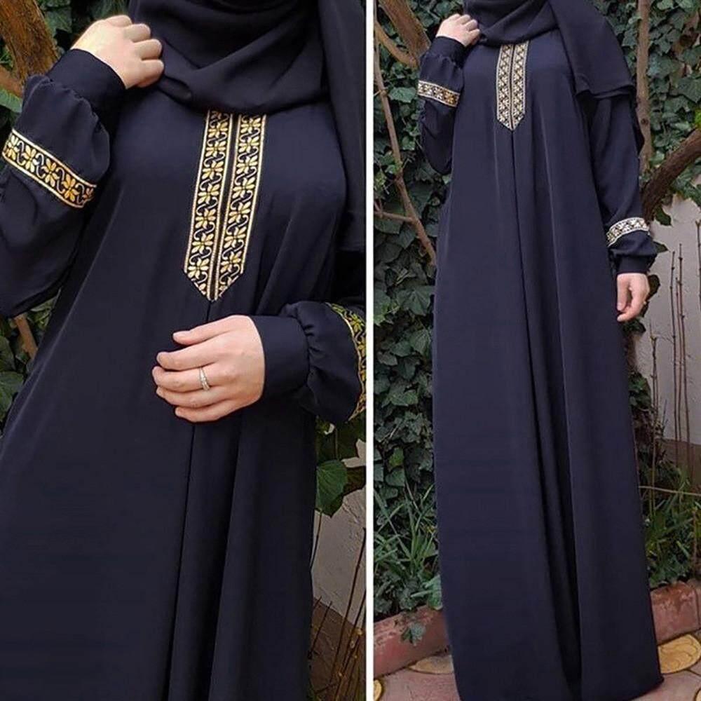 69b2f0f81f003 Luci Women Plus Size Print Abaya Jilbab Muslim Maxi Dress Casual Kaftan  Long Dress