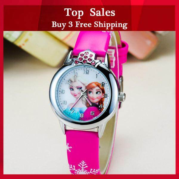YBC Cartoon Princess Pattern Dial Quartz Wrist Watch with PU Leather Strap Sport Casual Watches Malaysia