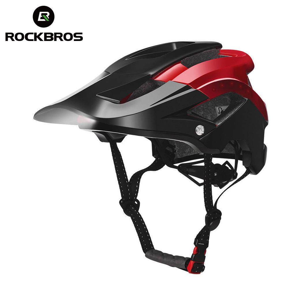 ROCKBROS Bicycle Bicycle Headlights MTB Road Bike Cycling Ultralight Smart Helmet Ultralight Smart Helmet USB Recharge Light 3 styles