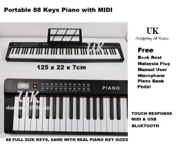 UK Bluetooth Portable 88 Keys PRO Traveler Electronic Piano MIDI Malaysia