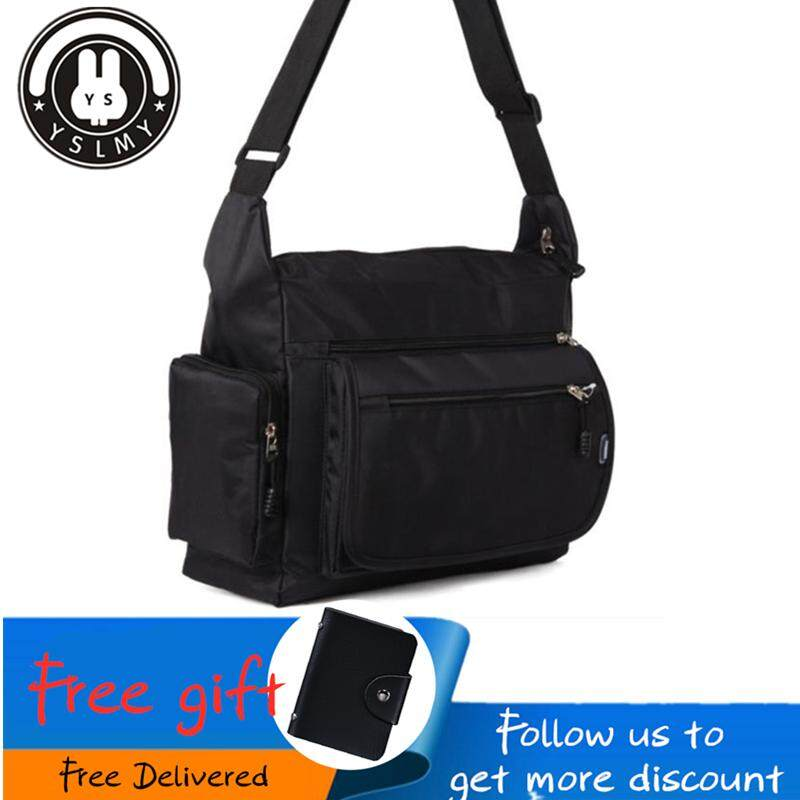 e7f3b3246 YSLMY 2018/2019 new pouch bag for Man Unisex Men and Women Nylon Oxford Bag  Casual Sport School Shoulder Bag Messenger Handbag Multi Pocket Waterproof  ...