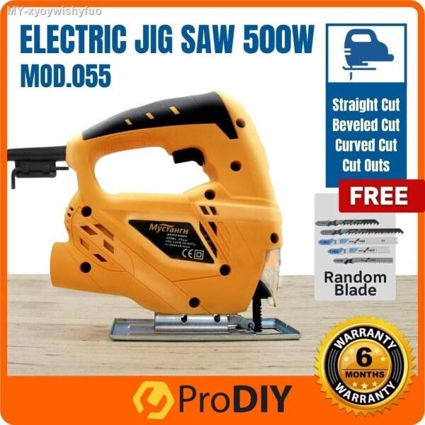MOD.055 Electric Jig Saw 500W High Speed Cutter Machine Bevel Cut 0°-45° Add on MAKITA Blade   FOC 5pcs Jigsaw Blade