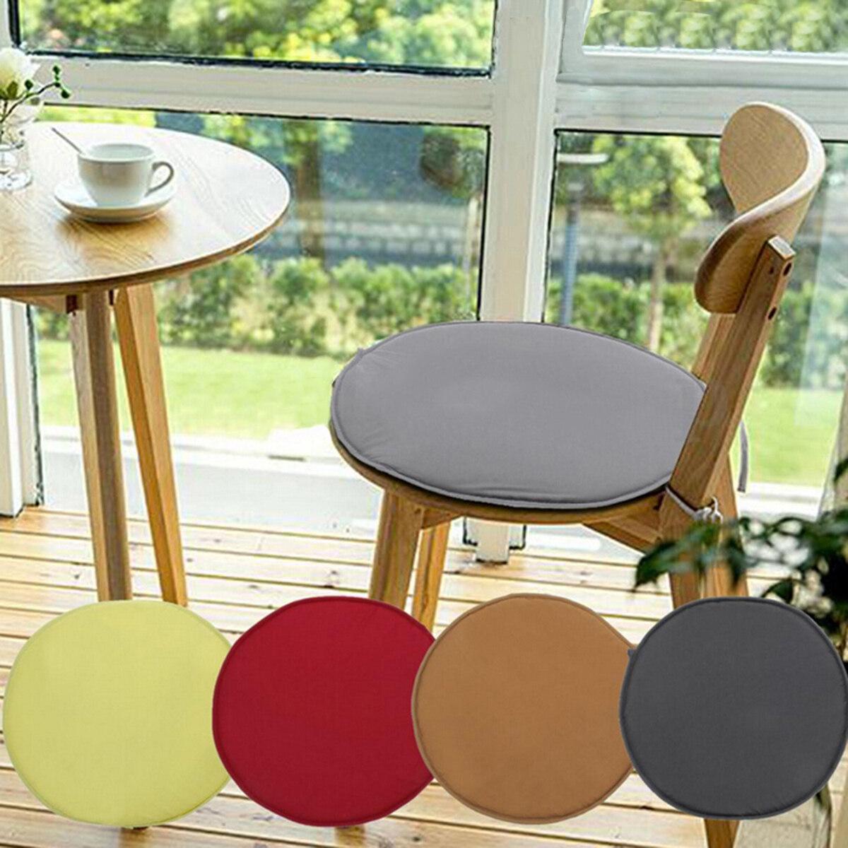 Nhiều Màu 2 Kích Cỡ Màu Trơn Trong Nhà Ngoài Trời Có Thể Giặt Ghế Có Thể Tháo Rời Trang Chủ Trang Trí Ghế Pad Miếng Đệm Tròn giá rẻ