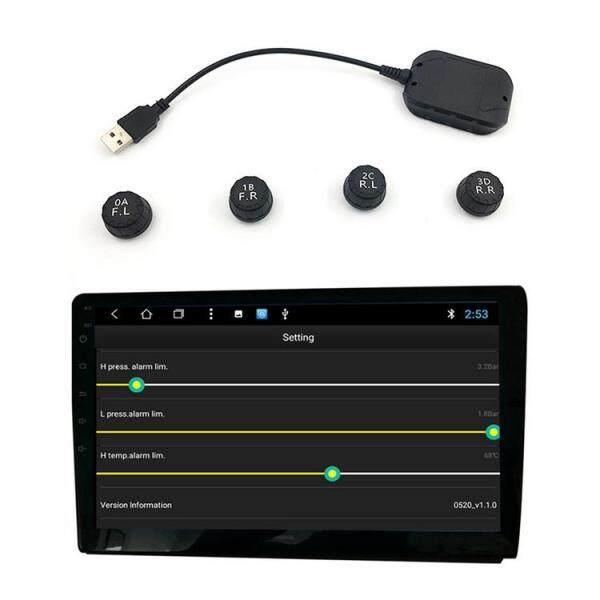 Hệ Thống Giám Sát Áp Suất Lốp USB Kiểm Tra Gió Cao Su Đồng Hồ Đo Áp Suất Lốp Cảm Biến Ngoài Tpms Android