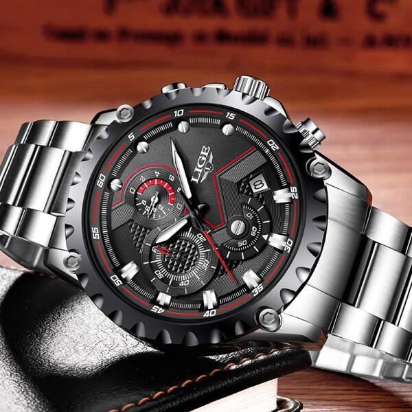 Men Watch Top Luxury Brand Watch Fashion Quartz Sports Watch Mens Casual All Steel Waterproof Business Watch Malaysia