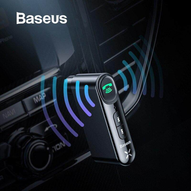Baseus Bluetooth Ontvanger 5.0 Wireless Aux Audio Ontvanger 3.5mm Auto Aux Bluetooth Adapter Handsfree voor Speaker Hoofdtelefoon