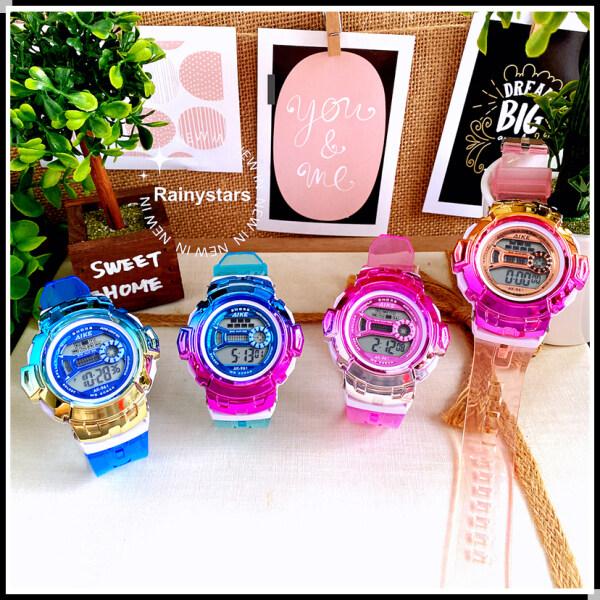Rainystars High Quality Kids Watches Boys Jam Tangan Girls Sport Watches Lady LED Backlight Gift Wholesale 小孩手表礼物批发 Malaysia