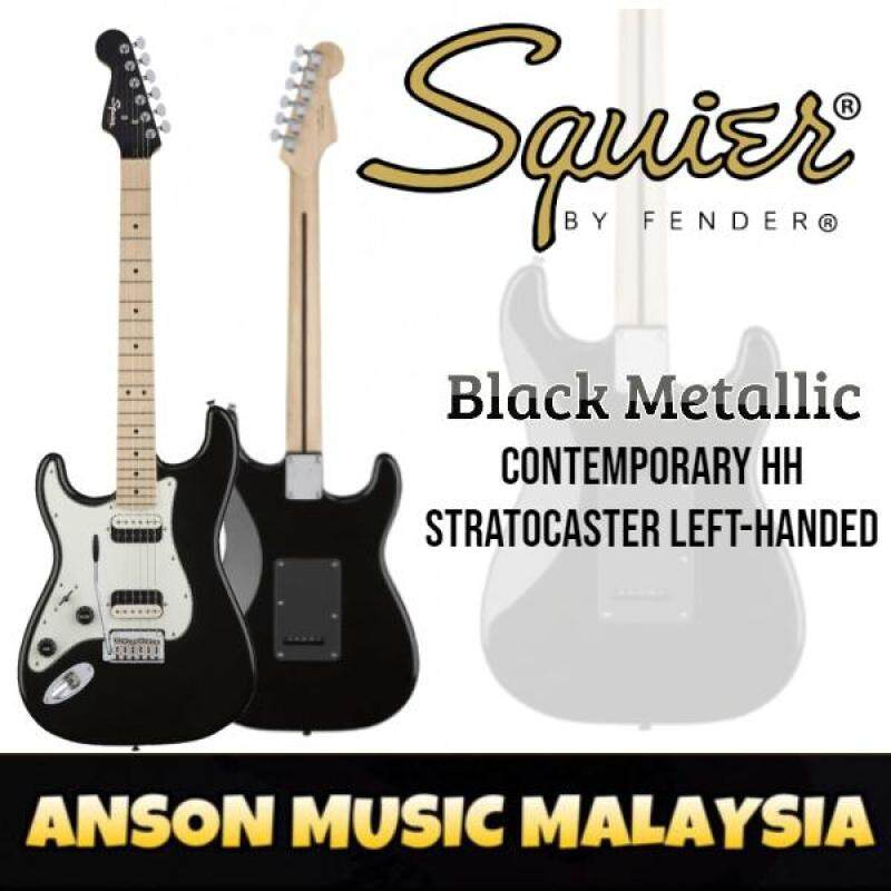 Squier Contemporary HH Stratocaster Left-Handed Electric Guitar, Maple Fingerboard, Black Metallic Malaysia