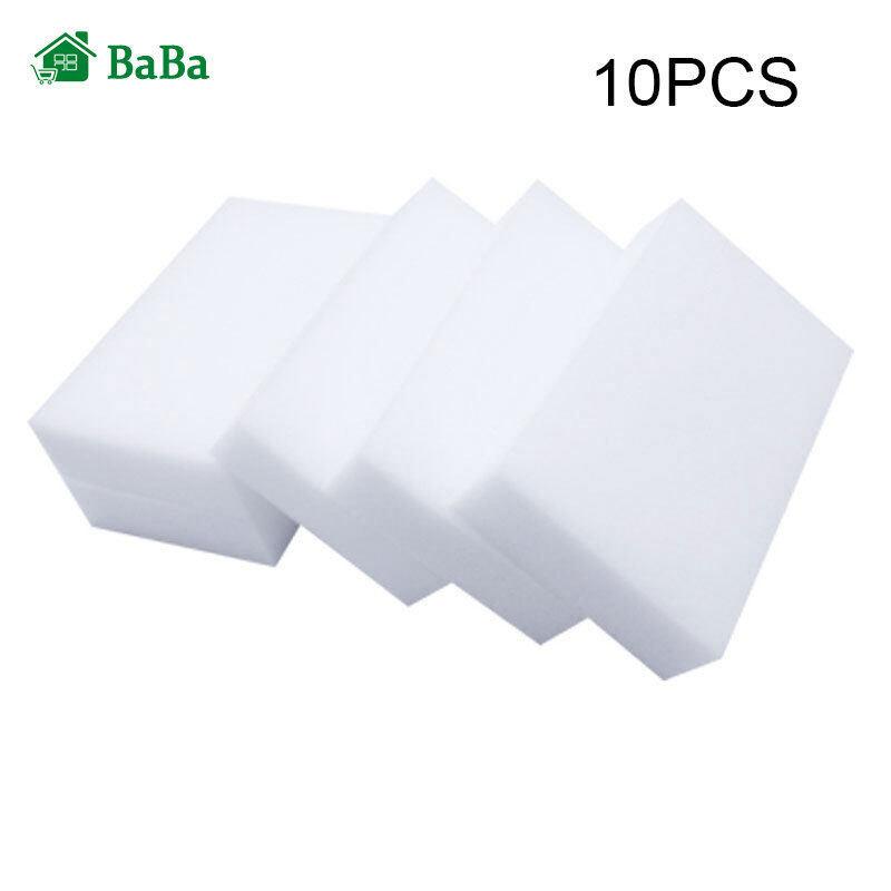 Baba 10/20 cái trắng đa chức năng Sponge Eraser Cleaner 10x6x2cm melamine Sponge làm sạch bọt biển món ăn rửa