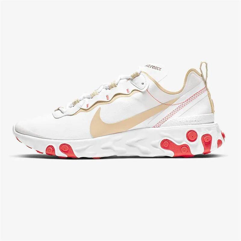 Nike_Sneaker Asli Bereaksi Elemen 55 100% Asli Sepatu Karet untuk Wanita Running Sepatu Olahraga untuk Pria Sepatu Basket Ringan Slip Sneakers sepatu Menyerap Keringat
