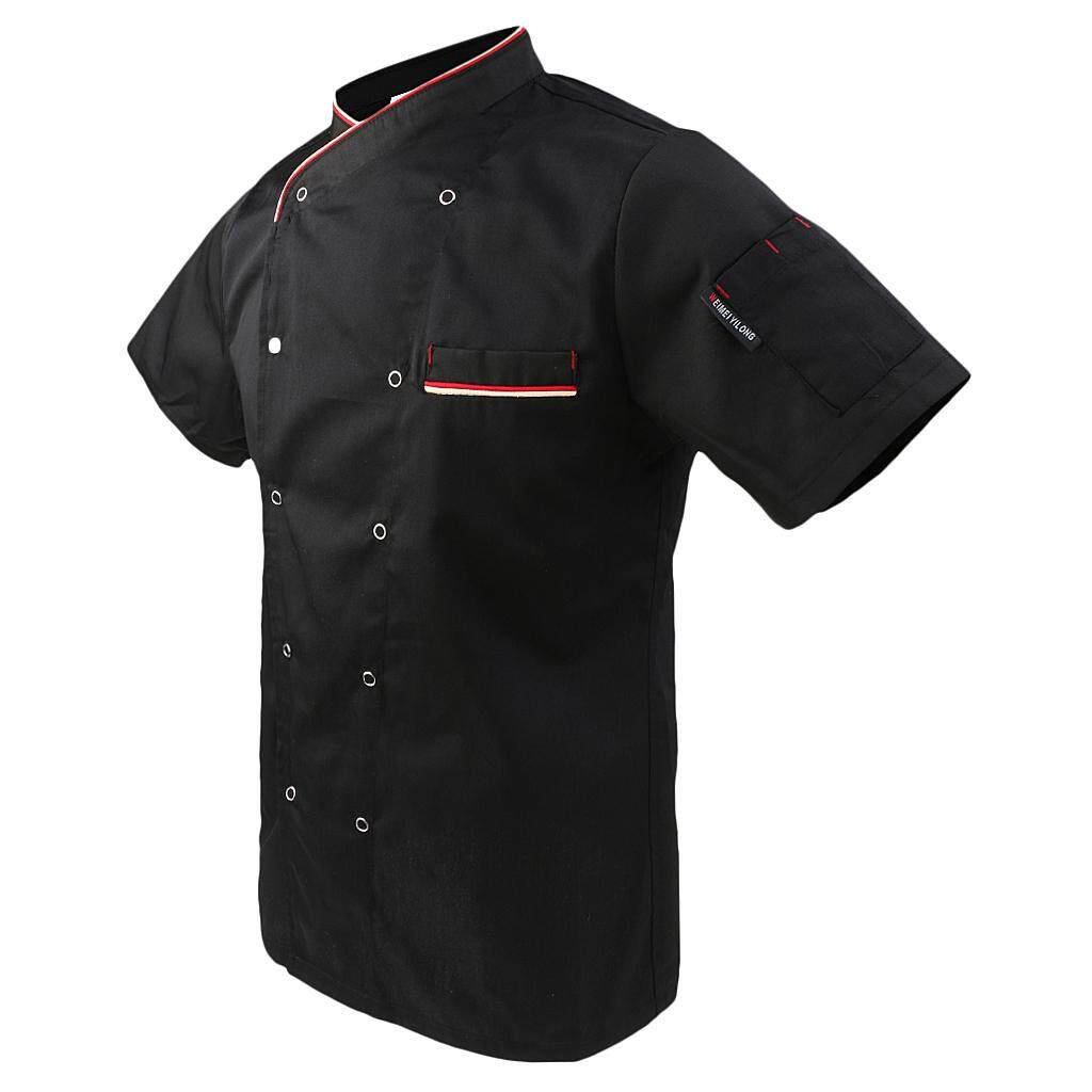 Dolity Unisex Short Sleeve Chef Jacket Coat Restaurant Cook Uniform