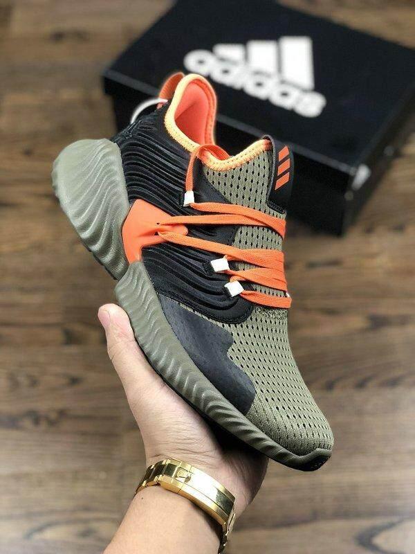 Harga Grosir 2019 Adidas_Alpha_Bounce Terbaru Basket Sepatu Olahraga Berjalan Jogging Bernapas Nyaman untuk Pria