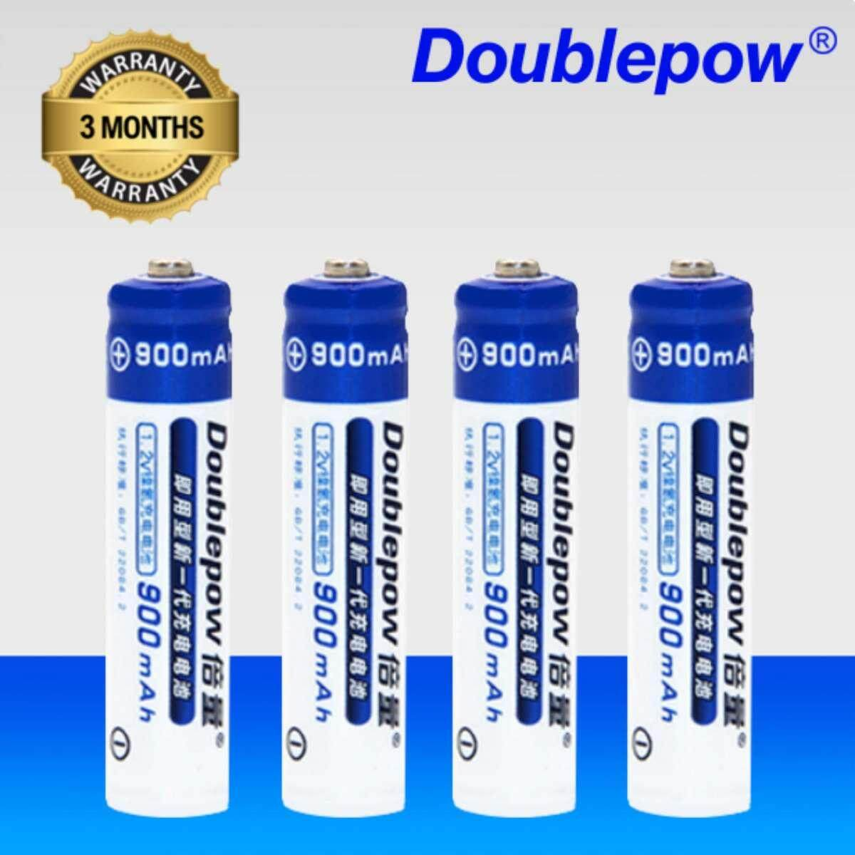 [4 Pcs] Aaa 1.2v Rechargeable Battery Original Doublepow / 900mah Aaa Rechargeable Battery [3 Months Warranty] By Fly Automart.