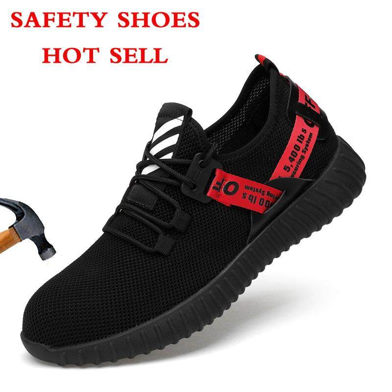 0d811cb9eb1532 Fashion New Men's Safety Work Shoes Steel Toe Casual Breathable  Anti-piercing Labor Insurance Men's