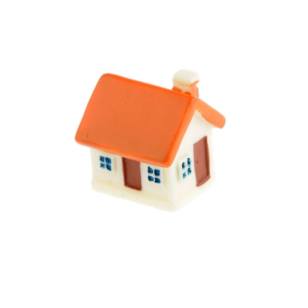 Blesiya Miniature Small House with Windows Door Micro Landscape Craft Decor Set of 3
