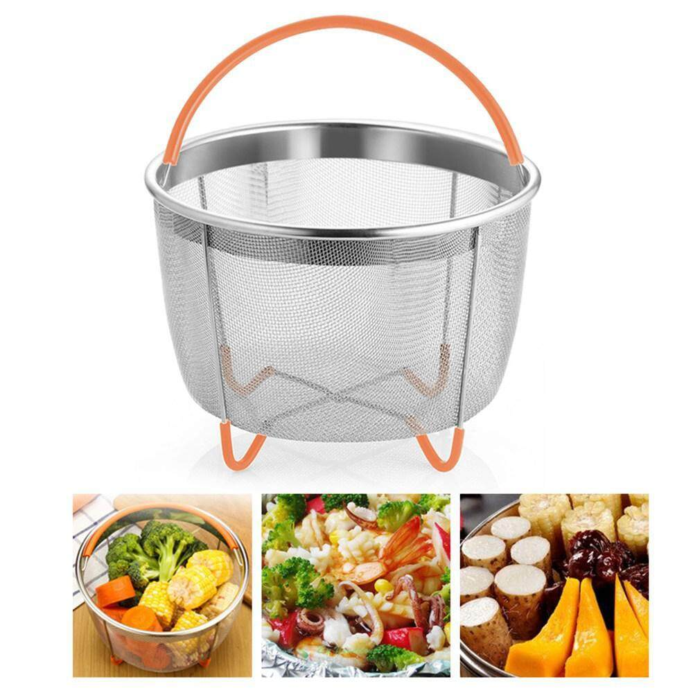 OutFlety Instant Pot Accessories Steaming Basket Pot Steamer for Instant Pot Pressure Cooker Rice Cooker/Silicone Handle