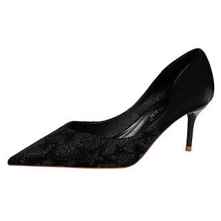 Womens Sexy Pointed Toe High Heels Slip On Sequins Bridal Pump Shoes thumbnail
