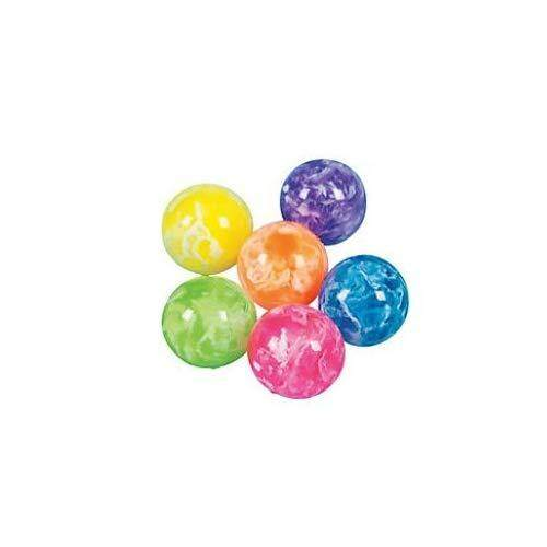 Fun Express Mini Neon Swirl Bouncing Balls (Party Favor Pack: 96 Count)