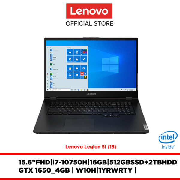 Lenovo Notebook Laptop Lenovo Legion 5i 82AU003WMJ 15.6FHDWVA/i7/16GB/2TB5400+512GB SSD/GTX1650_4GB/W10H/1YR WARRANTY/FREE:BACKPACK,MOUSE,2YR WARRANTY Malaysia