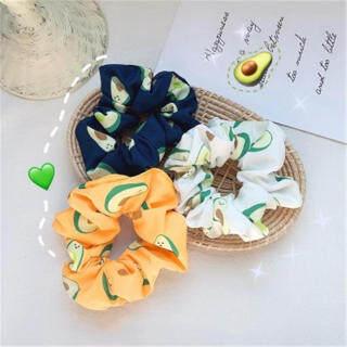 Retro Quả Bơ Tóc Nữ Dây Trái Cây Tiệc Ngoài Trời Vải Lanh Và Cotton Quả Bơ Dây Buộc Tóc thumbnail