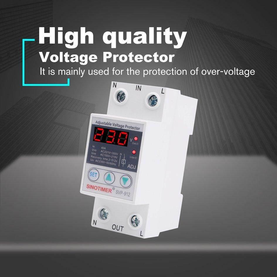 Ấm cúng SINOTIMER SVP-912 230V 40A/63A Dưới/Áp Bảo Vệ Tiếp Sức Phá LED