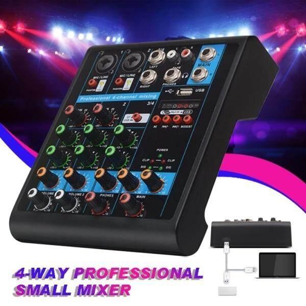 Nghề nghiệp Trộn 4 Kênh Trộn Âm Thanh USBwith MỘT Built-In-48-V Nguồn Phantom Karaoke TV Máy Tính