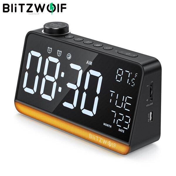 Nơi bán BlitzWolf BW-LAC1 Đồng Hồ Báo Thức Kỹ Thuật Số Vô Tuyến Đèn Ngủ, Đồng Hồ Báo Thức Kép Chức Năng Radio FM Màn Hình Lớn Hiển Thị Nhiệt Độ Để Trang Trí Bàn-Màu Đen