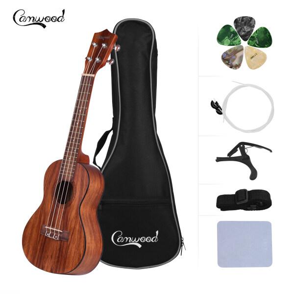 Camwood 23 Inch Acoustic Concert Ukulele Ukelele Teakwood Material with Gig Bag Uke Strap Spare Strings Cleaning Cloth Capo 5pcs Celluloid Picks Malaysia