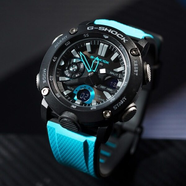 Carbon fiber watch band shockproof and waterproof black disk sports table GA-2000-1A2 Mens Sports Watch Malaysia