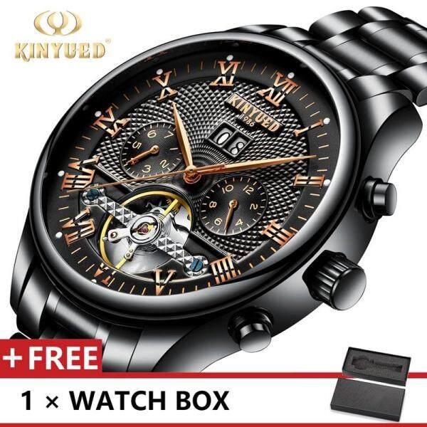 KINYUED J012 Top Luxury Brand Watch For Man Fashion Sports Men Quartz Watches Trend Wristwatch Gift For Male jam tangan lelaki Malaysia