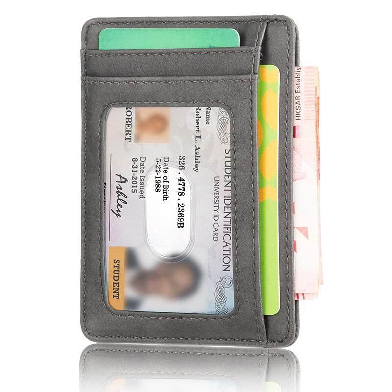 ee0bdc239d9f Rfid Vintage Men Wallet Credit Card Holder Business Brand Male Mini Wallets  Purse