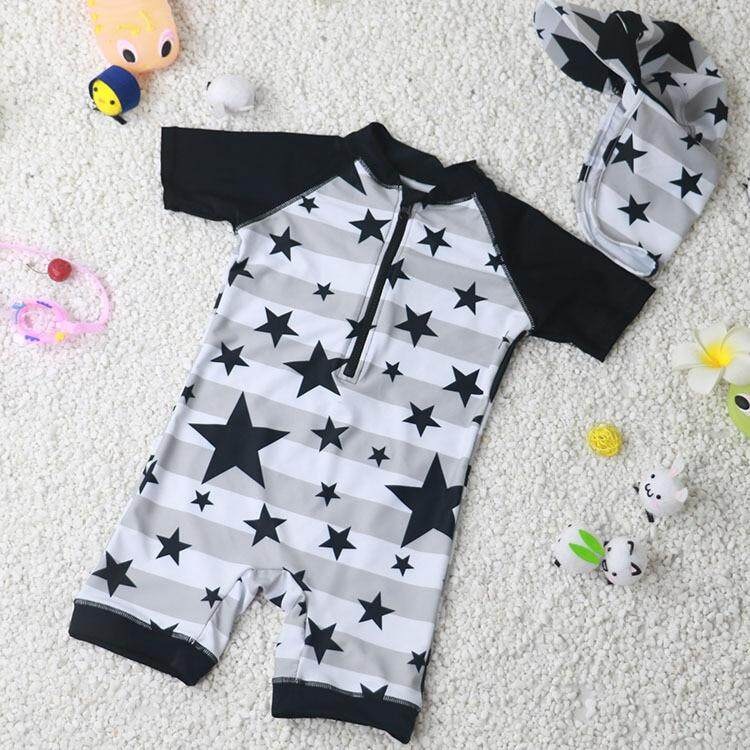 da51685102 One-Piece Boys Swimwear Surfing Clothing Beach Bathing Suit Short Sleeve  Cartoon Sports Swimsuit Baby