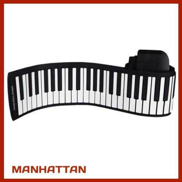 [ MANHATTAN ] Portable 88 Keys Silicone Flexible Roll Up Piano Foldable Keyboard Hand-rolling Piano with Battery Sustain Pedal (Standard) Malaysia