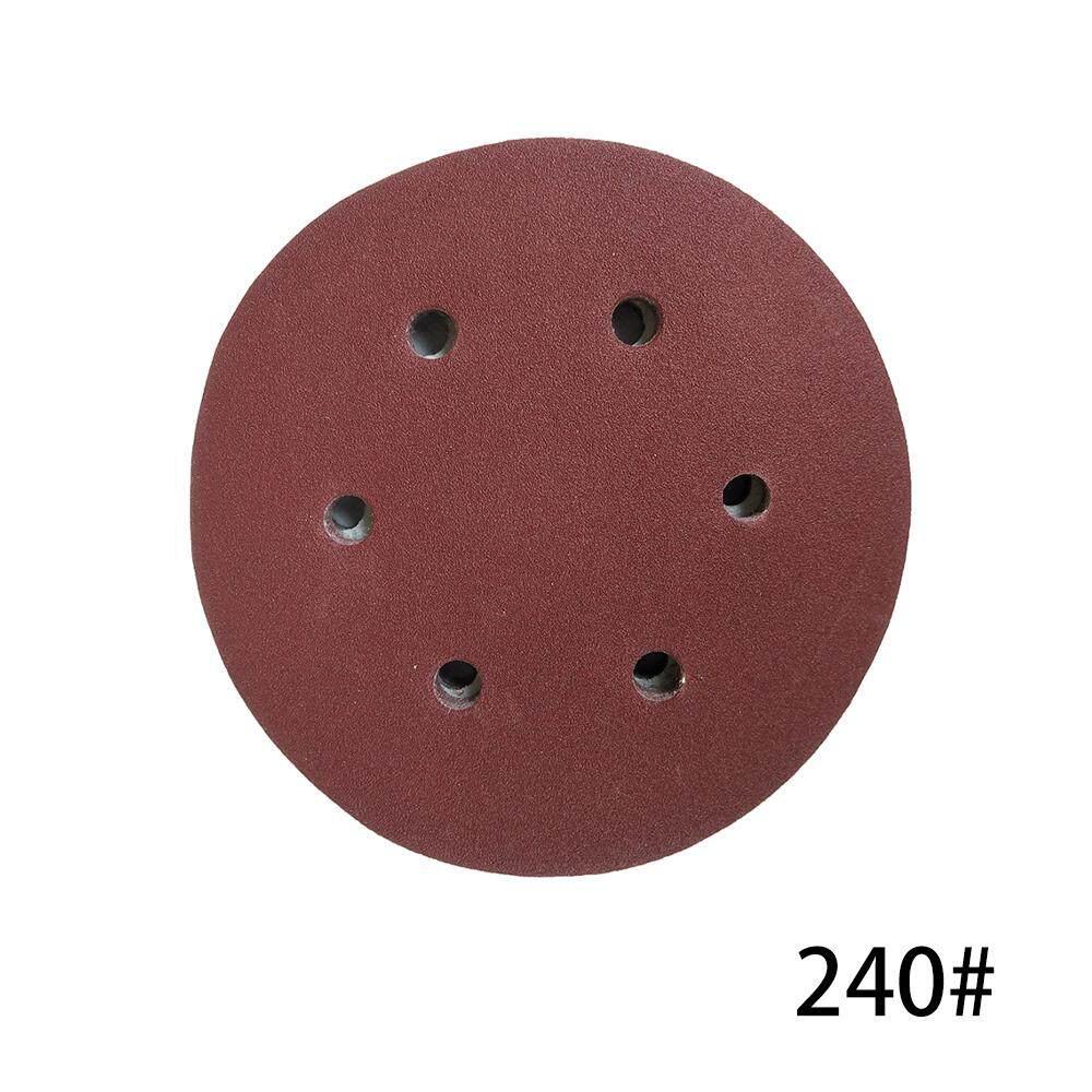 100 CHIẾC 125mm Móc Vòng Giấy Nhám với 8 Lỗ Cát Miếng Lót Bộ 240 Nhám Nhám Đĩa Chất Mài Mòn Dụng Cụ máy đánh bóng