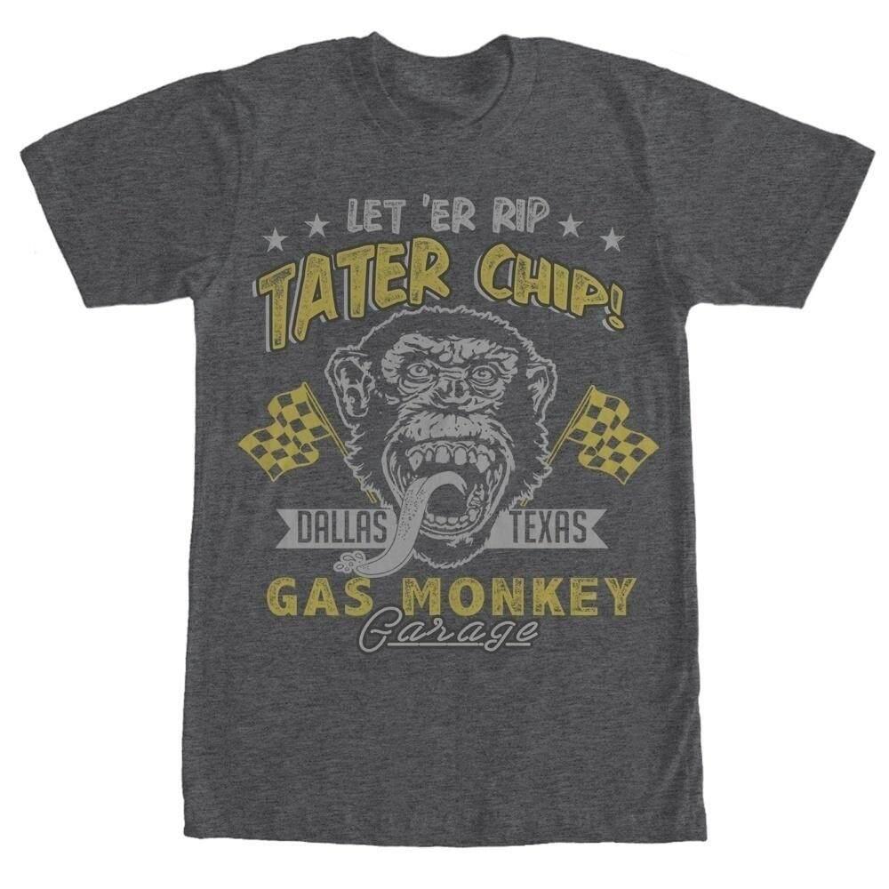 42f4de7d75e1 Funny Monkey Men T Shirt Let Er Rip Tater Chip Mens Graphic T-Shirts