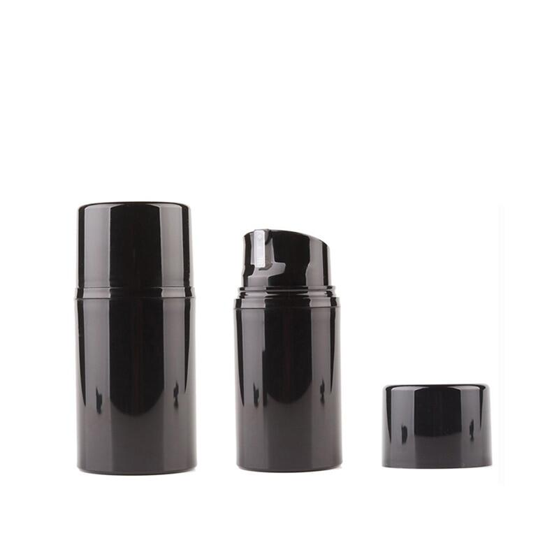 12pcs 30ml 50ml 80ml 100ml 120ml 150ml Empty Airless Lotion Cream Pump Bottle Black Skin Care Personal Care Travel Containers.