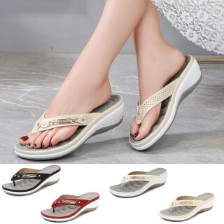 Thời trang giản dị Hasp Wedge Sandals phụ nữ Giày bãi biển cộng với kích thước thumbnail