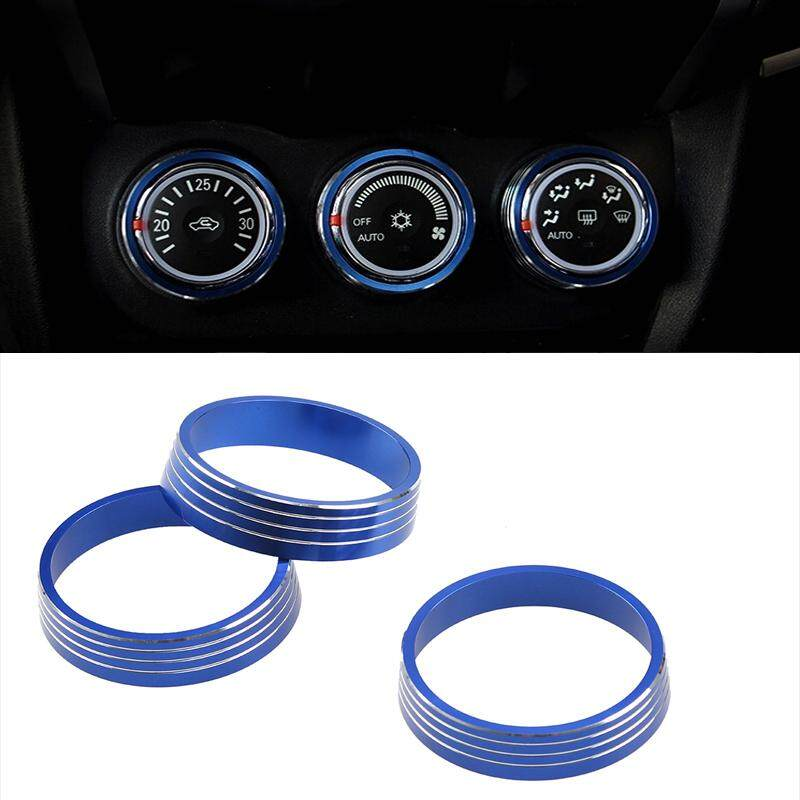 Blue 3pcs Car Air Conditioning Knob Decorative Circle Cover Switch Control Button Trim Ring Car Styling For Mitsubishi Asx By Guangzhou Possbay Trading Co., Ltd.
