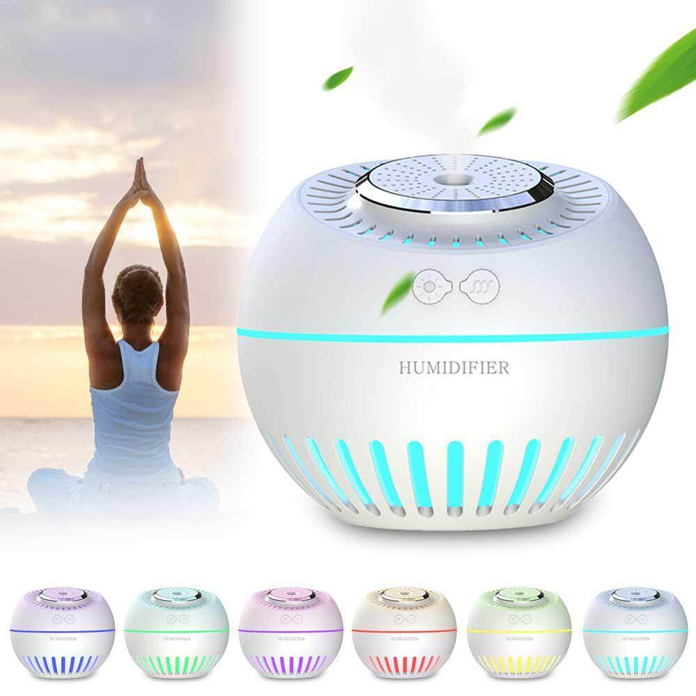 GoodScool Mini USB Large Capacity Cute Melon Humidifier 4-in-1 Function Night Light / Small Fan / Humidifier / Aromatherapy,for Office Home